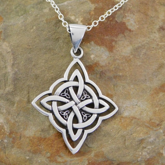 The Irish Gem Jewelry Sterling Silver Witches Knot Necklace Wiccan